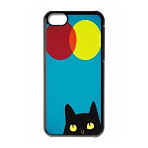 Customized Durable Case for Iphone 5C, Cat, Sun and Moon Phone Case - HL-505831