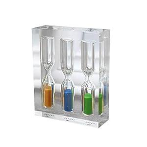 VOSAREA 3 en 1 Acrílico Transparente 3mins / 4mins / 5mins Relojes de Arena Coloridos Reloj de Arena Reloj Home Timer Home Home Office 17