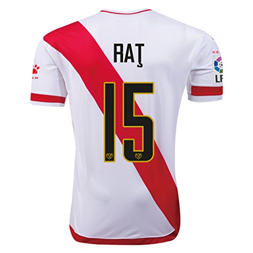 fan products of Rayo Vallecano #15 Rat 2015/16 Home Soccer Adult Football Jersey