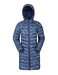Mountain Warehouse Florence Womens Long Jacket - Padded Winter Coat Blue 8