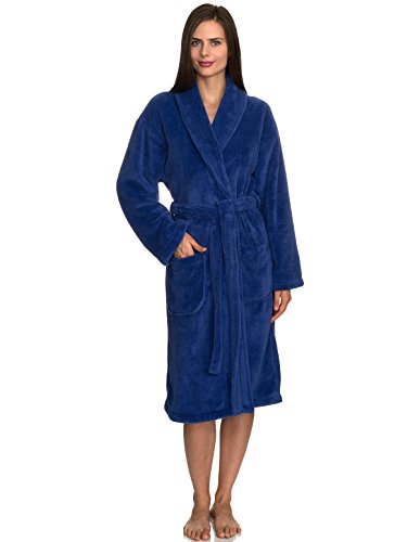 (TowelSelections Women's Super Soft Plush Bathrobe Fleece Spa Robe Large/X-Large Violet Storm )