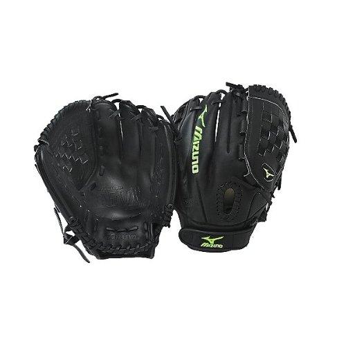 (Mizuno MVP Prime Fastpitch GMVP1208P Softball Fielder's Mitt, Black, 12-Inch, Left Handed)