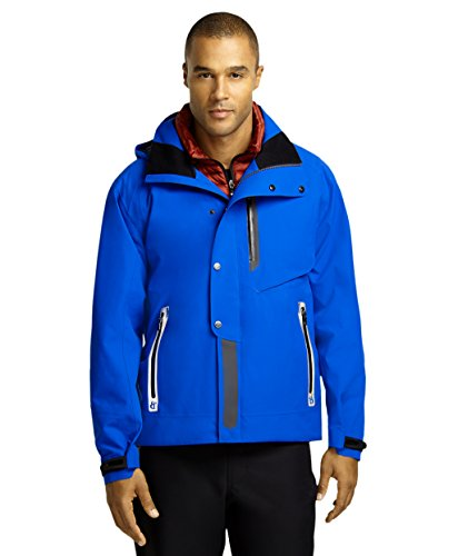Brooks Brothers ProSport Mens Two in One Insulated Vest Ski Jacket Blue ()