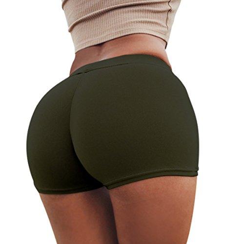 Verde JackenLOVE Unita Skinny Pantaloncini Hot Moda Estivo Scuro Tinta Donne Shorts Pants Sexy xxXP1w