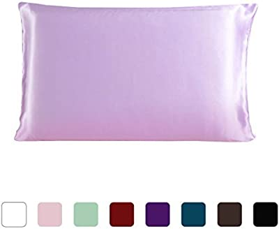 DealMux 100% Pure Mulberry Charmeuse Silk Pillowcase Pillow Case Cover for Hair & Skin 19