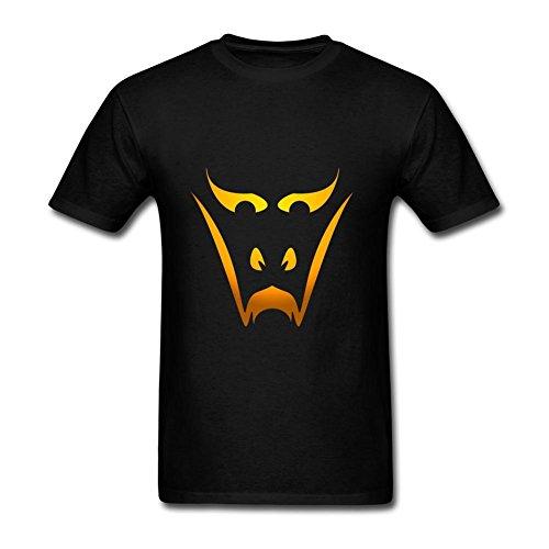 Heerinsy Men's Simple Halloween Smile Design Yellow Color Short Sleeve T-Shirt M ()