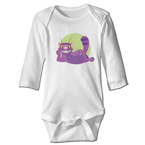 Maliin Baby Boys Girls Bodysuit Cheshire Cat to The Fairy Tale Alices Adventures Jumpsuit Onesies Long Sleeve Unisex -