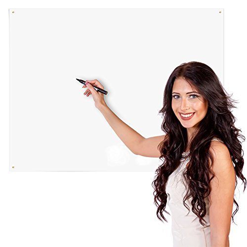 Poster Adhesive Board (Delane Dry Erase Whiteboard Sheet, Alternative to Heavy Dry Erase Board, Better Than Erasable Decals and Stickers, Medium (24 X 36-Inches), Flexible)