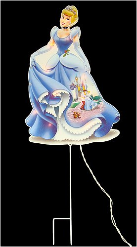 disney princess cinderella indooroutdoor lighted christmas yard deco - Disney Princess Outdoor Christmas Decorations