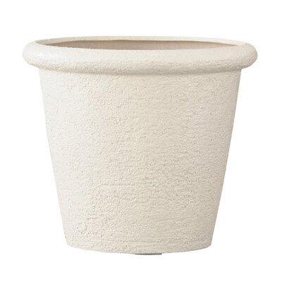 ビアス リムス 46 x H 40 cm/軽量/植木 鉢 プランター 【 アイボリー 】 B01MYEI6BA アイボリー アイボリー