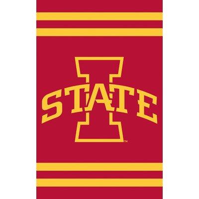 NCAA Appliqué House Flag NCAA Team: Iowa (Broncos Ncaa Applique)