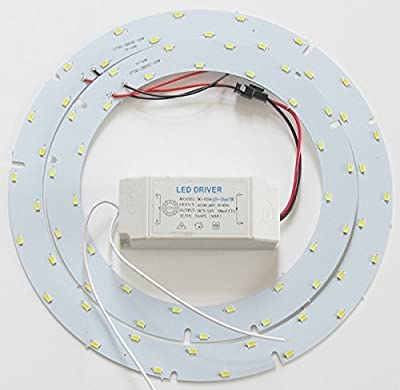 Ledy 33w 10.6 Inch 3630lm 5730 SMD Led Ceiling Light Fixtures Replacement Panel Retrofit Board Light Bulb Replace Incandescent Fluorescent Bulb Round Tube
