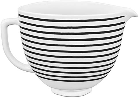Horizontale Streifen KitchenAid UK KitchenAid Ceramic Bowl Stripes 5KSM2CB5PHS Keramikschale