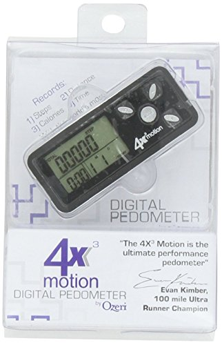 Ozeri 4x3motion Digital Pocket 3D Pedometer with Tri Axis Technology