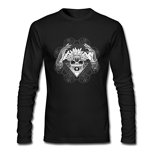 M Bert Pandora Mens Decorative Graphic Diamond Hands Skull Funny Tshirts