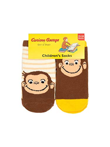 - Curious George Socks 12-24 months 4-pack