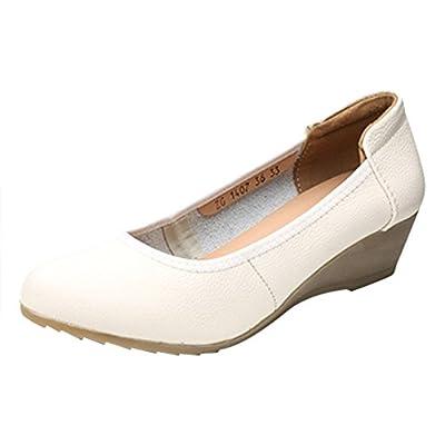 Optimal Women Work Leather Pump Shoes Non Slip