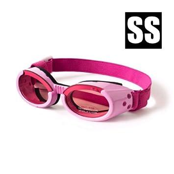 site web pour réduction dessins attrayants qualité supérieure Lunettes De Soleil Pour Chien Doggles - Couleur : Rose - Taille : XS