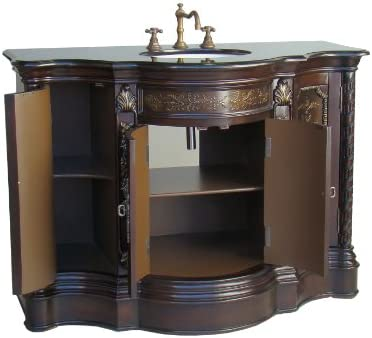 48.5 Asian Decorative Cadence Bathroom Sink Vanity Cabinet Model Q108GT