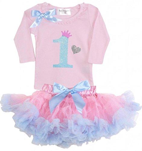 Princess Bubblegum Outfits (Bubblegum Divas Baby Girls' 1st Birthday Pink Blue Princess Tutu Outfit 18mos)