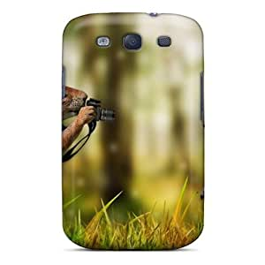 Galaxy S3 Hard Back With Bumper Silicone Gel Tpu Case Cover Smile For The Camera