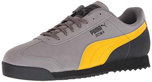 Basic Grey Heart - PUMA Men's Roma Basic Sneaker, Steel Gray-Spectra Grey, 8 M US