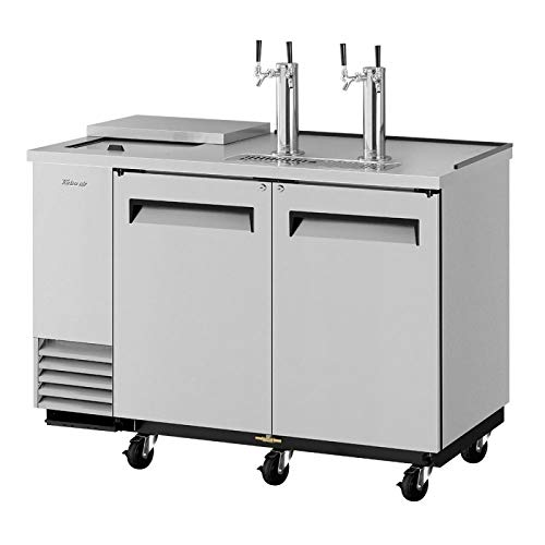 Direct Draw 2 Keg Beer Cooler Dispenser Club Top Stainless