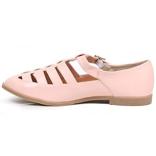 Donna Donna Scarpe Mary Wear Piatte Tacco Da Tagliate Summer Basso Stile Pink Fibbie Con Jane ngXqrg
