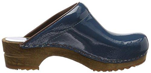 Sanita Sabots Classic Patent Pétrole Bleu Open Femme rvUqpwr7