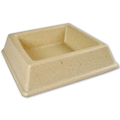 The Green Pet Shop GP15536 Bamboo Cat Water Bowl, White