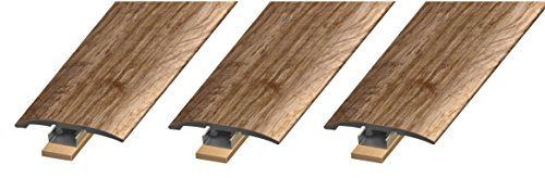 Cal-Flor MD10003 Unitrim Waterproof 3-in1 Floor Molding 2'' Wide x 94'' Long 3-in-1 Laminate, Wpc, Lvt and Vinyl, 3 Pack, Rustic, 3 Piece by Cal-Flor (Image #5)