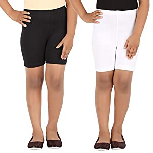 Lula School Girl's Spandex Shorts, Pack of 2