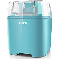 BIMONK Ice Cream Maker with Detachable Frozen Bowl and Auto Shut-Off Timer, 1.5 Quart, BPA Free, Electric Ice Cream Machine for Kids DIY Frozen Yogurt, Gelato Or Sorbet Maker