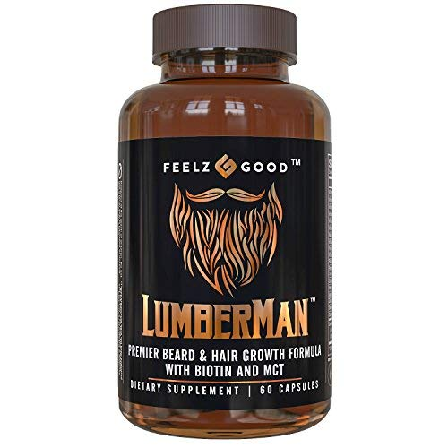 Lumberman Premier Beard & Hair Growth Vitamin Formula - Stronger Healthier Hair. Hair Growth...