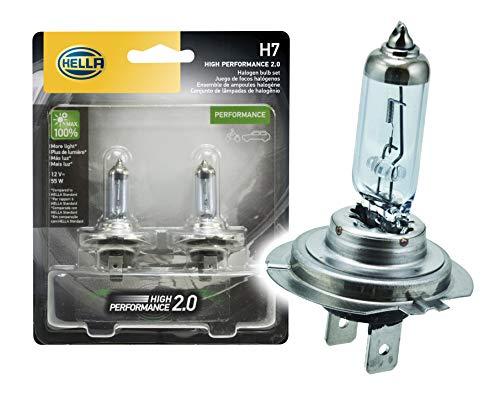 - HELLA 2.0TB HP2.0-55W High Performance H7 Bulbs, 12V, 55W, 2 Pack