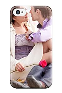 Ideal ZippyDoritEduard Case Cover For Iphone 4/4s(girl Holding Red Rose Sitting In Boy Lap), Protective Stylish Case