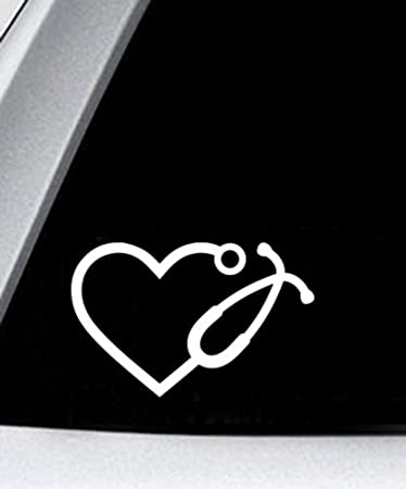 Art Nurse For Laptop Heart Wall Vinyl Decal Stethoscope Decor Sticker Doctor