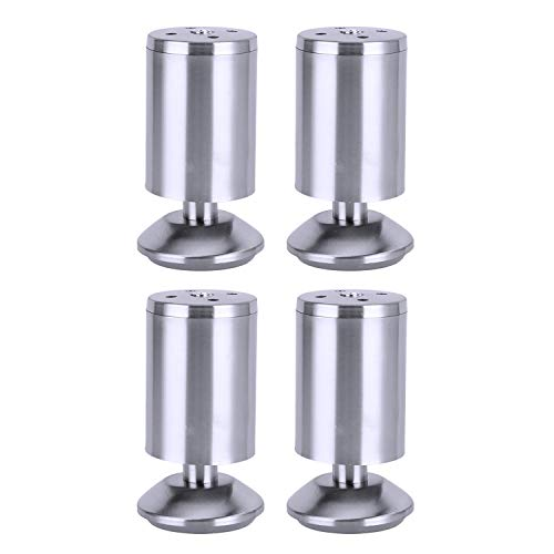 SAVORLIVING Bed Risers (Pack of 4) Furniture Riser Stainless Steel Table Riser Heavy Duty Detachable Bed Lifts Great for Under Bed Storage -