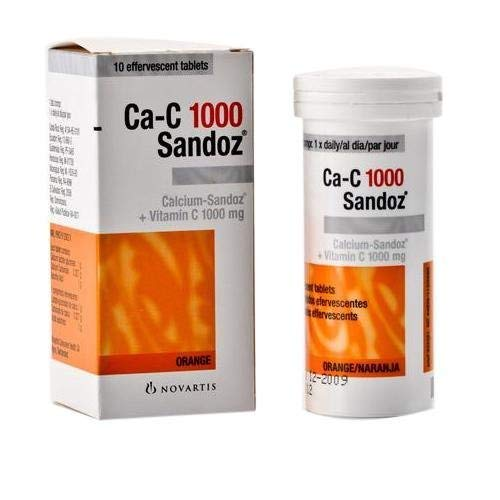 Ca-c 1000 Sandoz Effervescent Tablets 10 Tablets