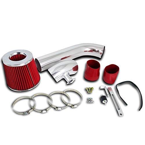 (Spec-D Tuning AFC-E3692V6RD-AY BMW E36 323i 325i 328i L6 6Cyl Cold Air Intake System+Filter Red)