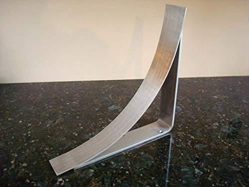 Modern 11 inch Brushed Stainless Steel Farmhouse Countertop Corbel Support Bracket Granite Quartz Marble