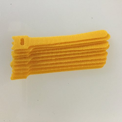HOOK & LOOP CABLE TIE 40 LB. 5.91 LENGTH YELLOW 10/PACK by NTE, Inc