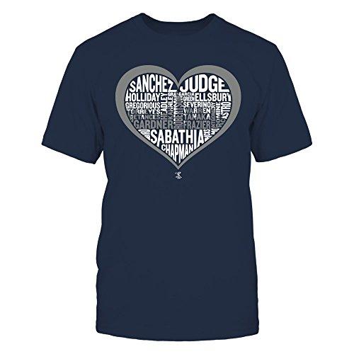 Aaron Judge - 2017 New York Heart Skyline Team Roster T Shirt, Long Sleeve, Sweatshirt, Hoodie, for best time ()