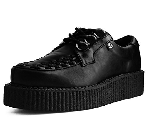 Anarchic T2270 Unisex-Adult Creepers, Black Faux Leather Creeper Shoes- US: Men 11 / Women 13 / Black/Synthetic