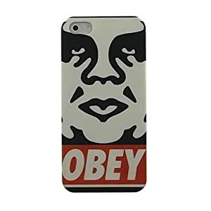 LZX Man Face Pattern Hard Case for iPhone4/4S
