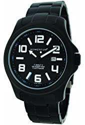 Momentum by St Moritz watch corp Cobalt V Titanium Watch with Metal Band