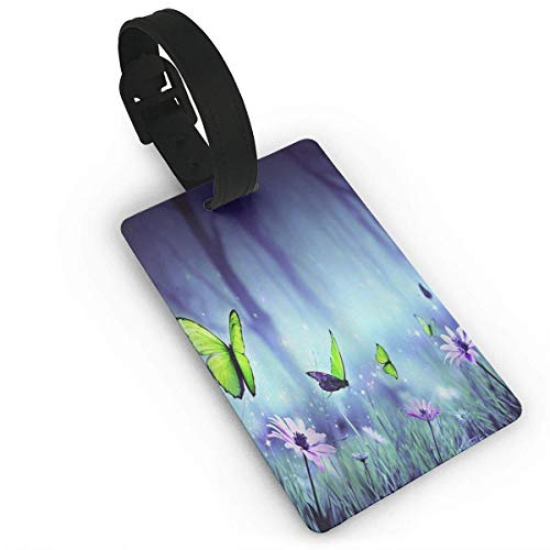 """JOQSI luggage tags Fairyland Butterfly Initial Bag Tag Etag Holders PVC Size 2.2"""" X 3.7"""" from JOQSI"""