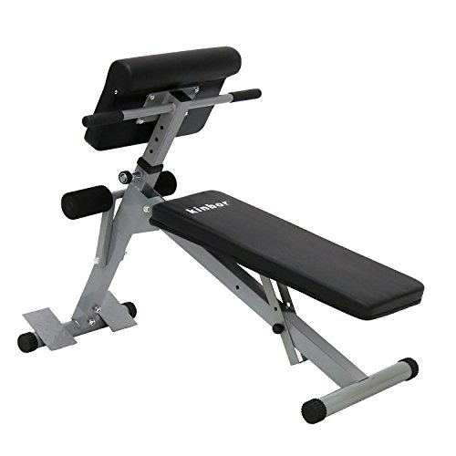 Kinbor Sit up Bench Adjustable Workout Abdominal Exercise Bench Board, Black by Kinbor