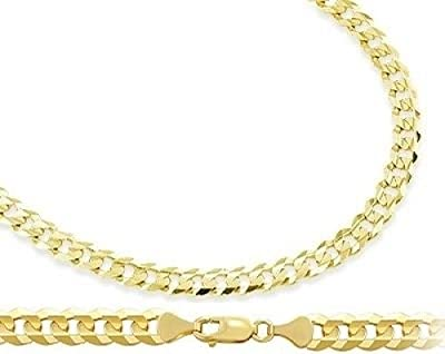 Solid 14k Yellow Gold Bracelet Cuban Curb Link 3.2mm 7 inches from Jewel Tie
