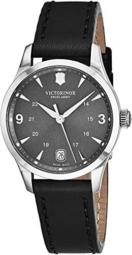 Swiss Army 241542 Women's Alliance Black Dial Black Leather Strap Swiss ()